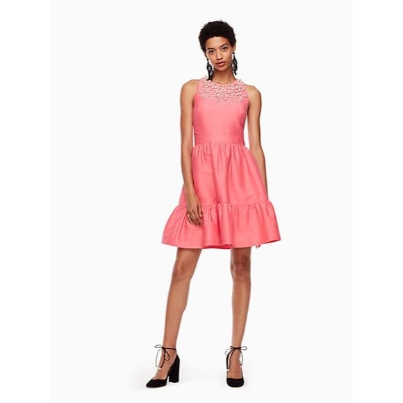 Kate Spade Petunia Pink Pearl Mikado Dress Holiday